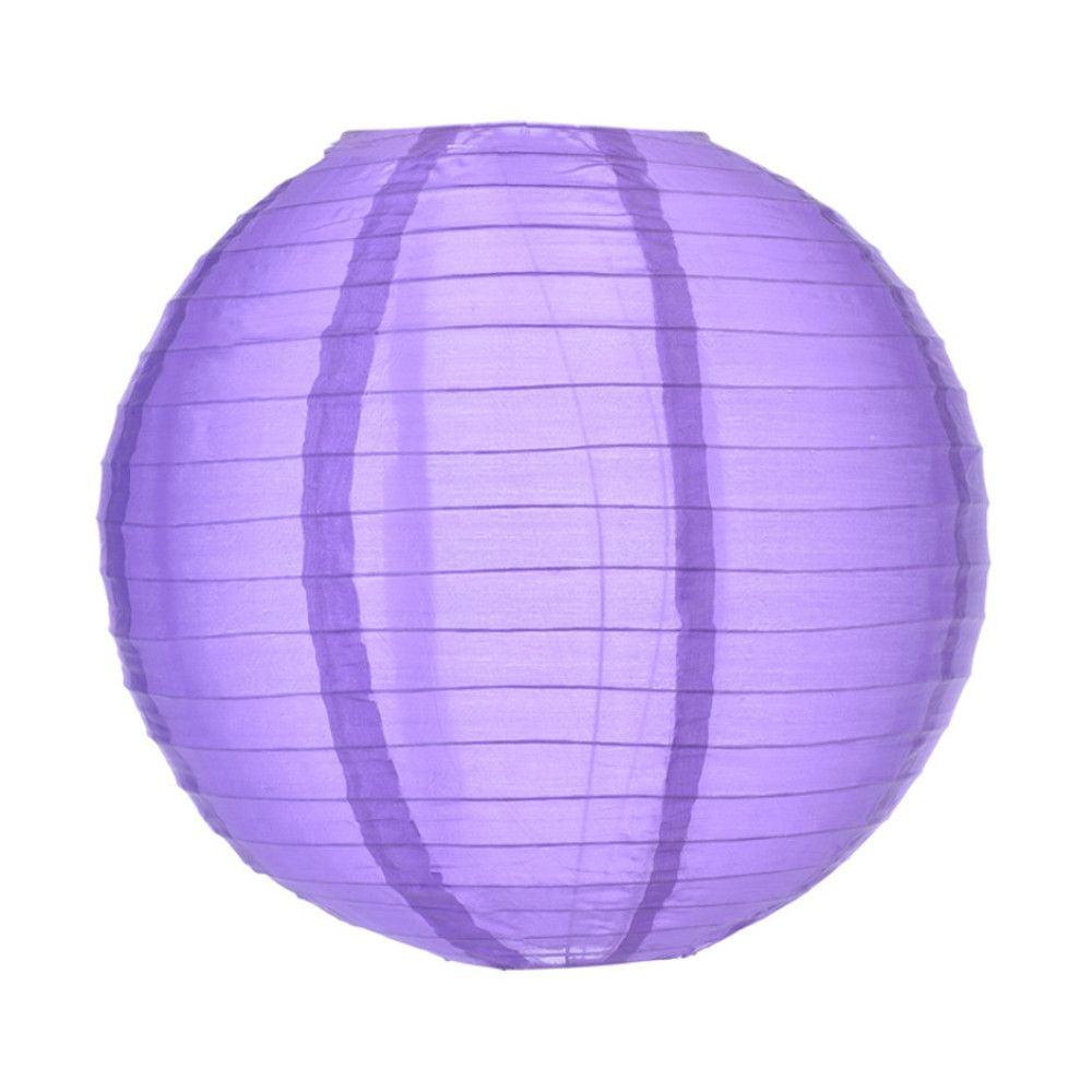 Luminária Oriental Roxa Nylon - 40 cm