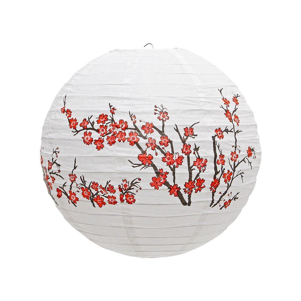 Luminária Oriental Sakura Umê - 40 cm