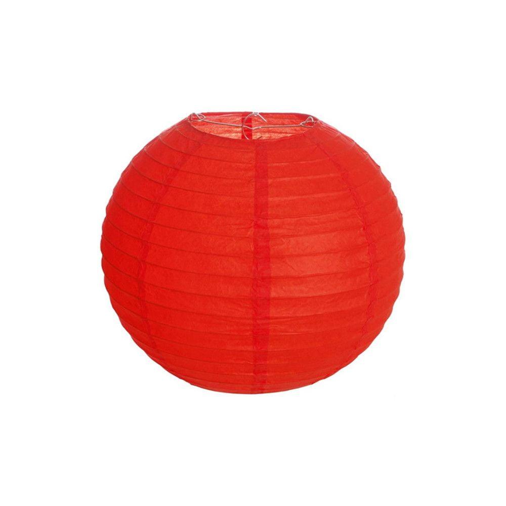Luminária Oriental Vermelha Lisa - 20 cm