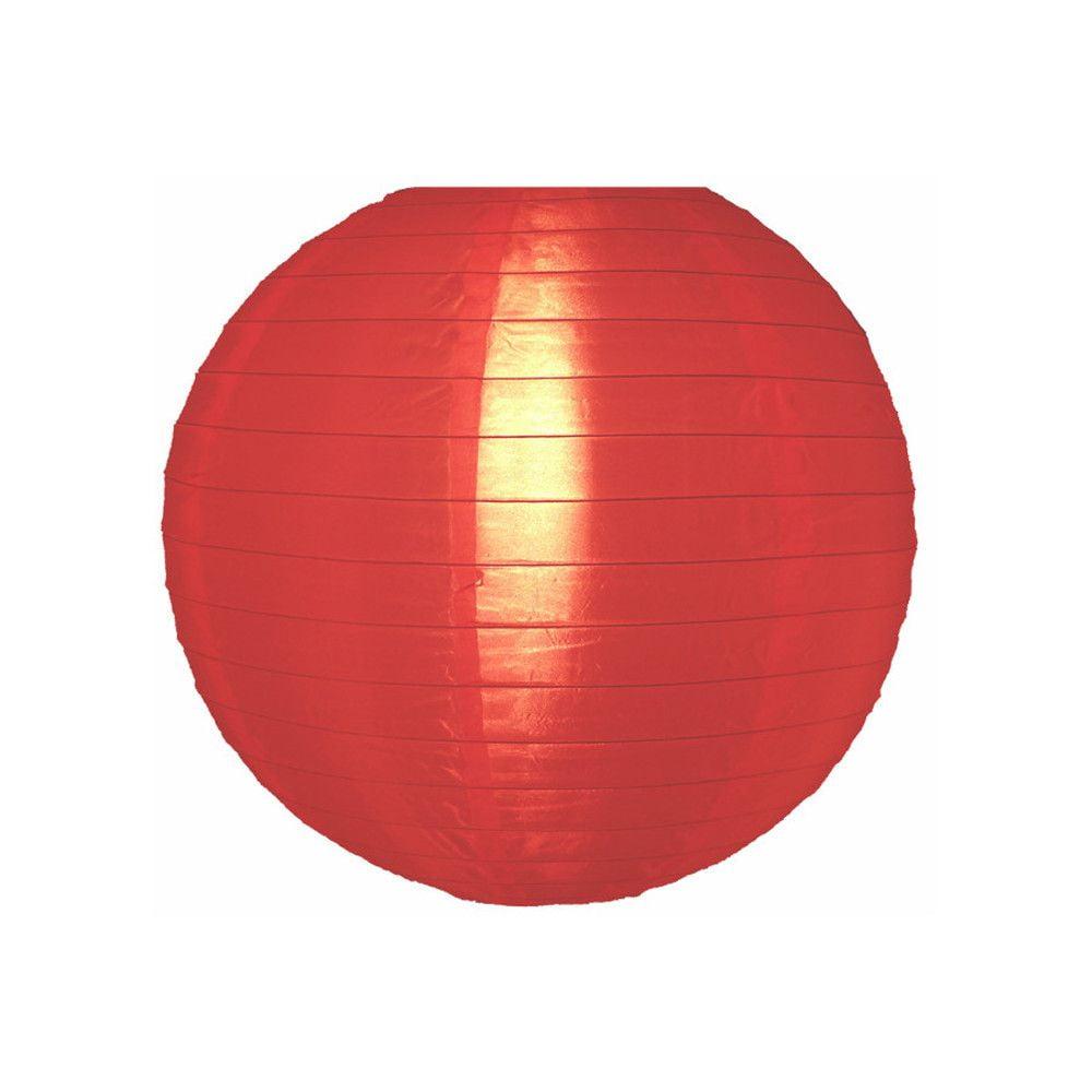 Luminária Oriental Vermelha Nylon - 30 cm