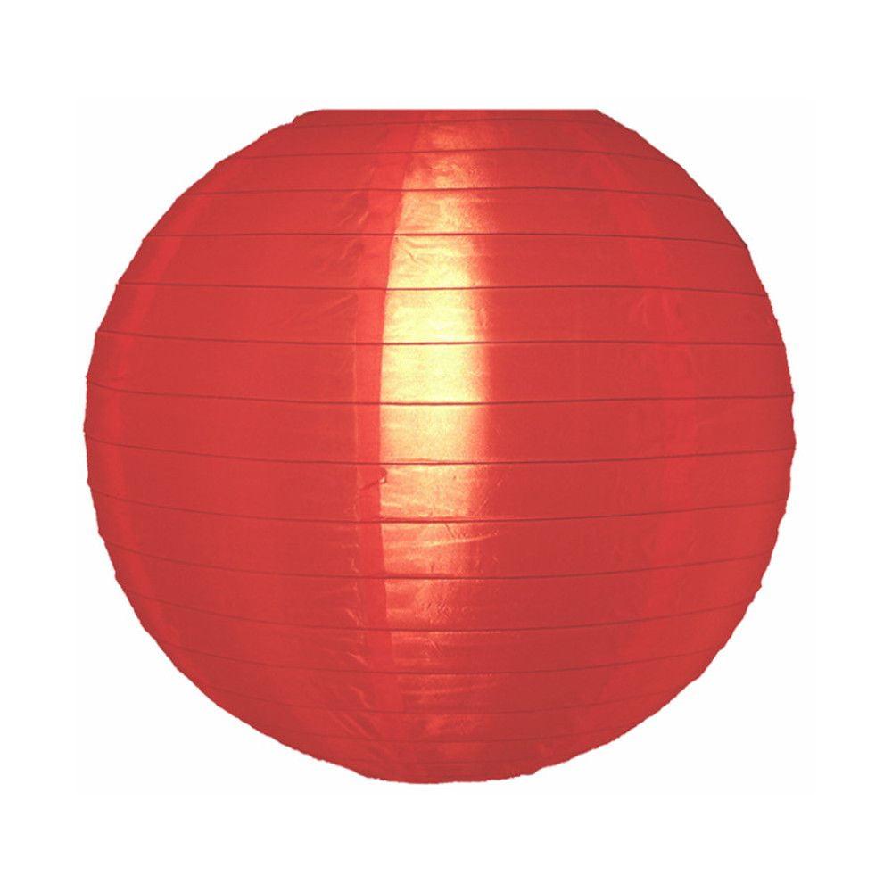 Luminária Oriental Vermelha Nylon - 40 cm