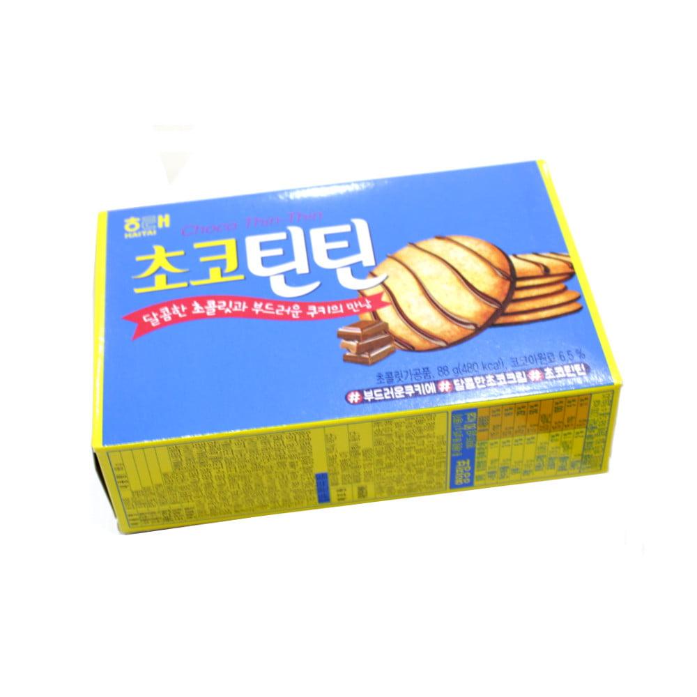 Biscoito Coreano com Camada de Chocolate Choco Thin-Thin - 88 gramas