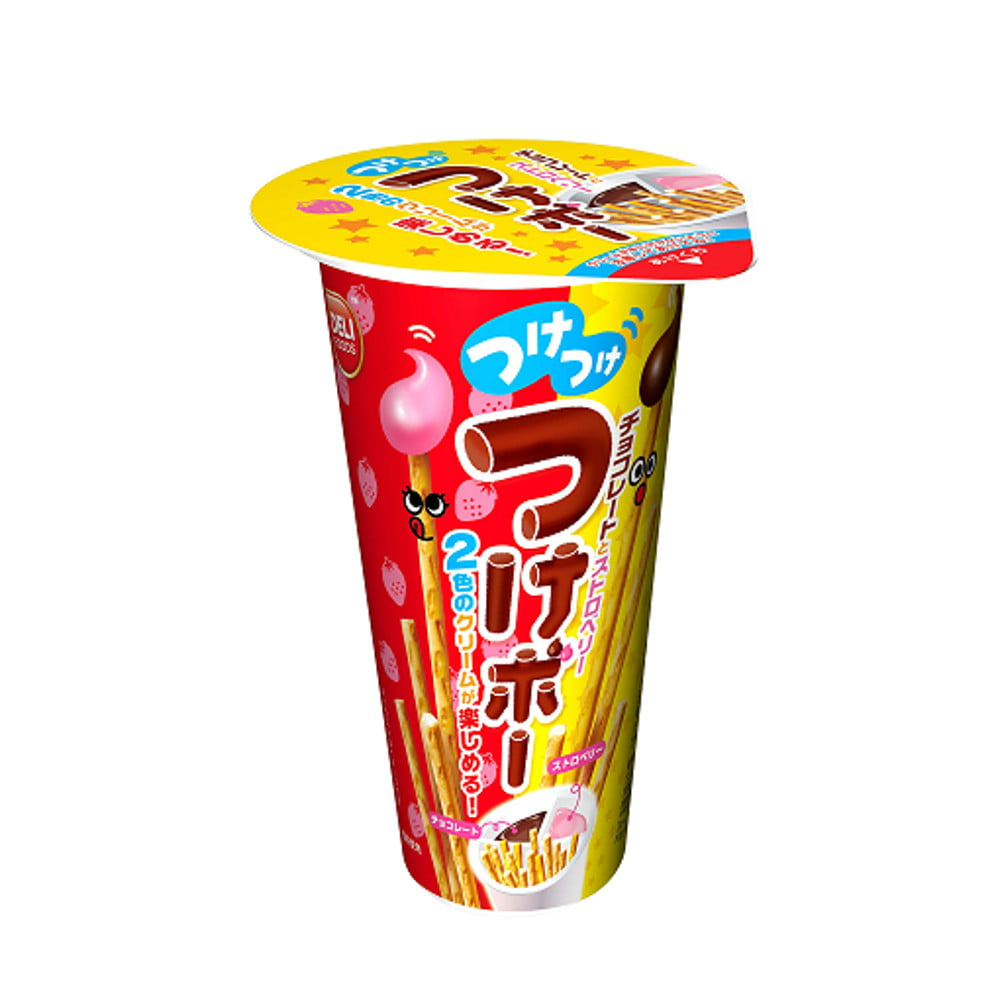 Biscoito Palito Tik com Creme de Chocolate e Morango Richy - 35 gramas