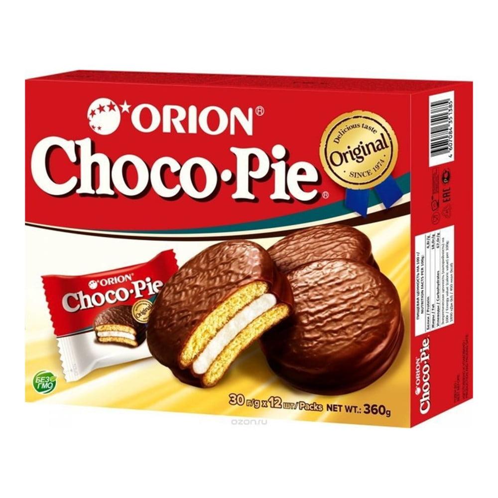 Bolinho de Chocolate Choco Pie Orion 360 Gramas - 12 unidades