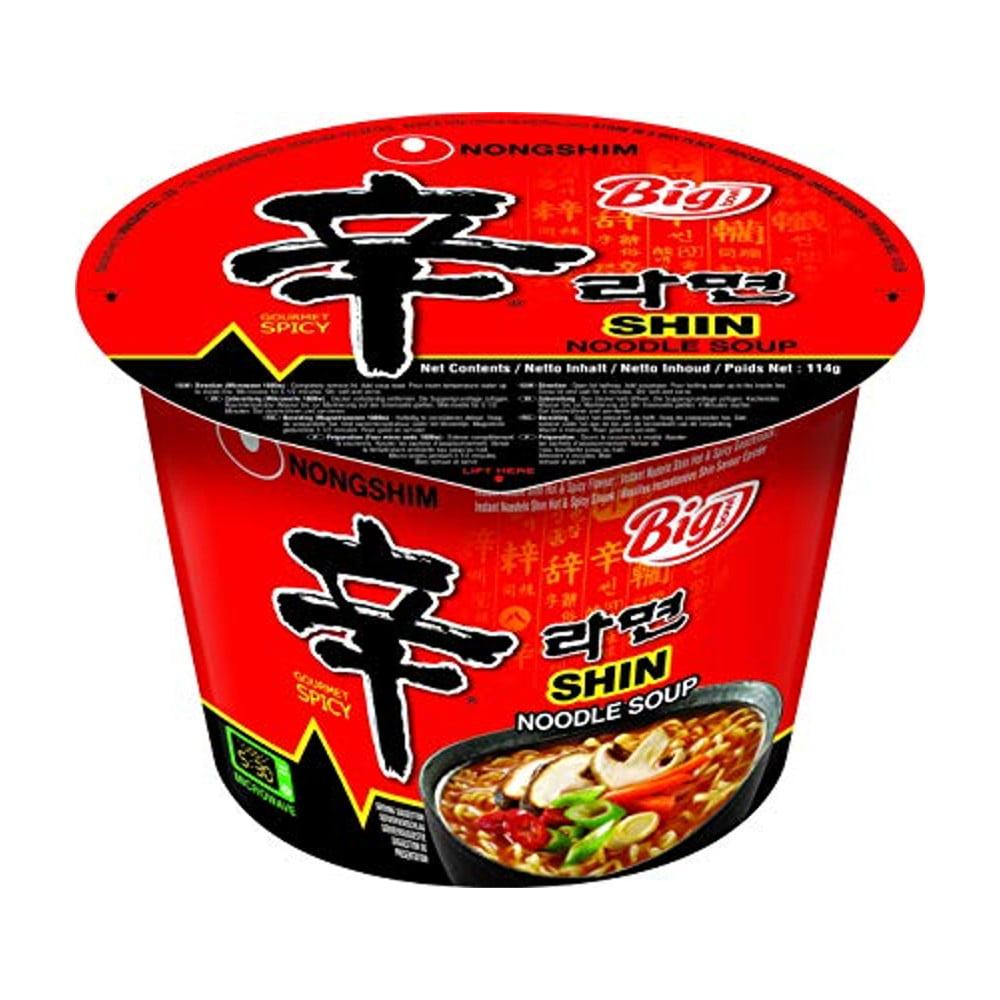 Lamen Coreano Shin Ramyun Picante Carne e Legumes Big Bowl Copo - 114g