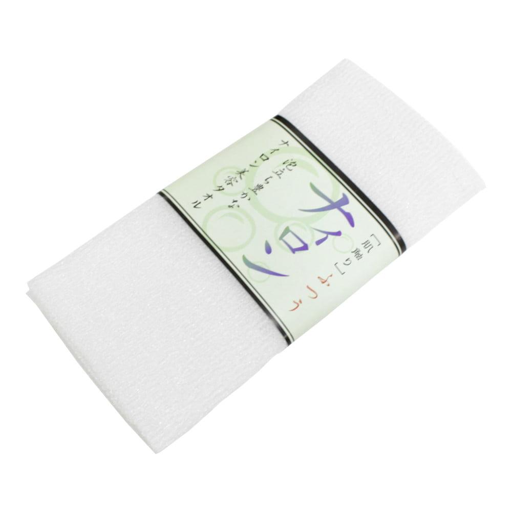 Toalha de banho Esponja de Plástico Branca - Bucha