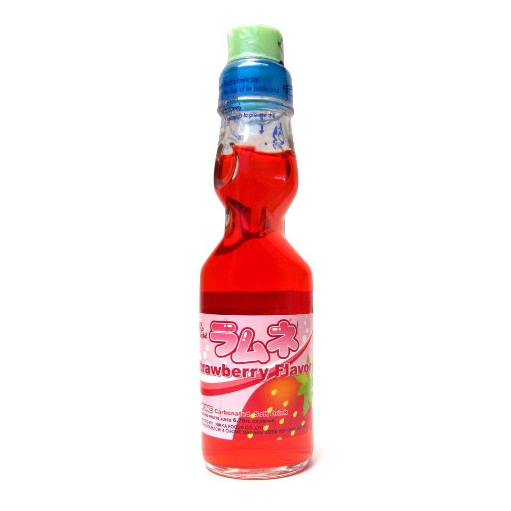 Refrigerante Japonês Ramune Sabor Morango - 200mL
