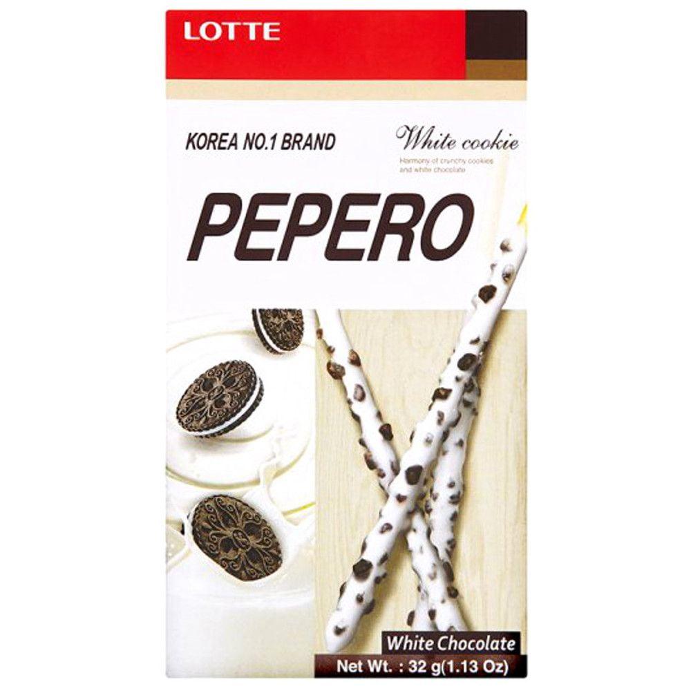 Pepero Biscoito Palito Chocolate Branco White Cookie - 32g