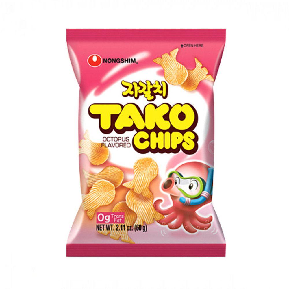 Salgadinho Coreano Polvo - Tako Chips 60 gramas