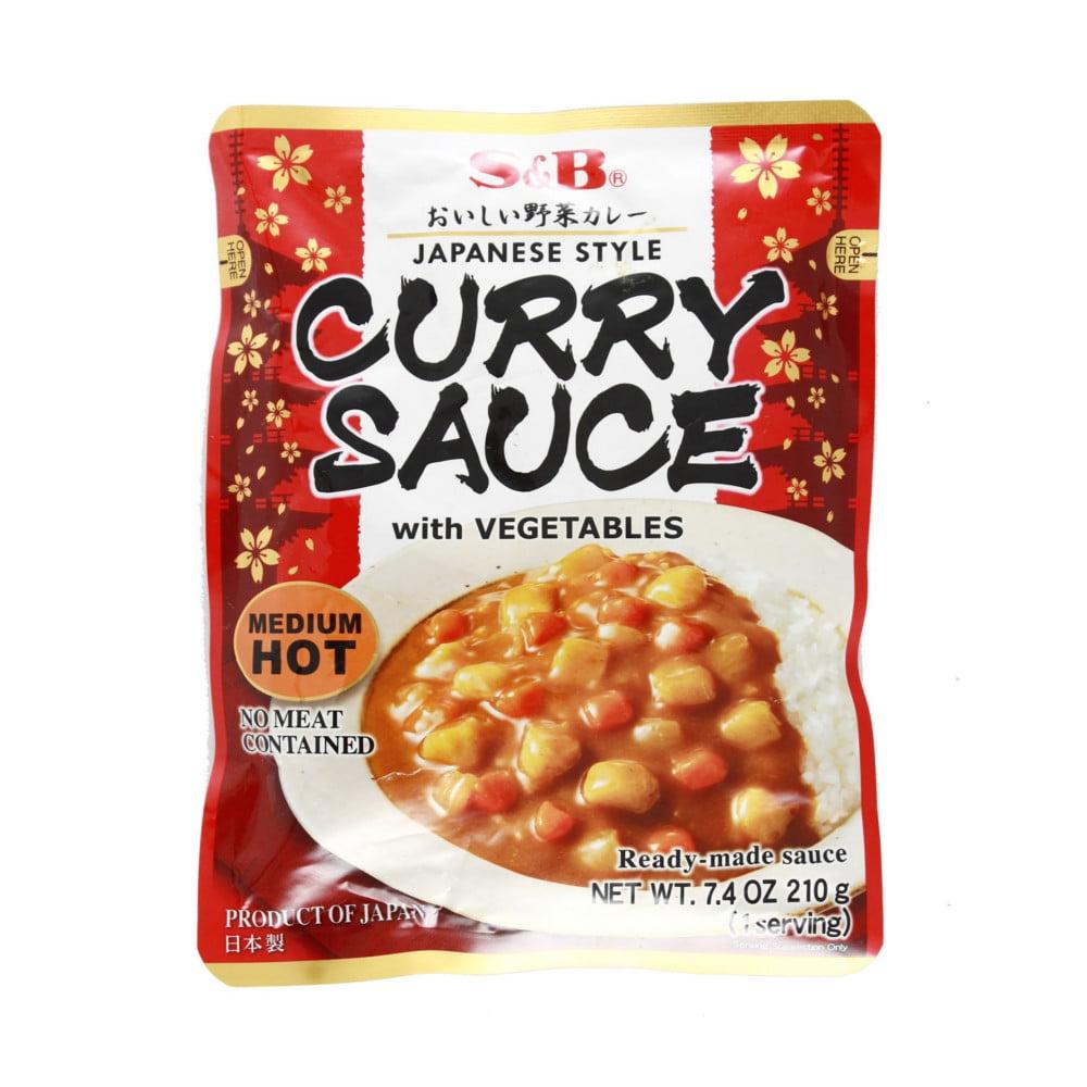 Karê Pronto Curry Sauce Sabor Picante nível Médio S&B - 210 gramas