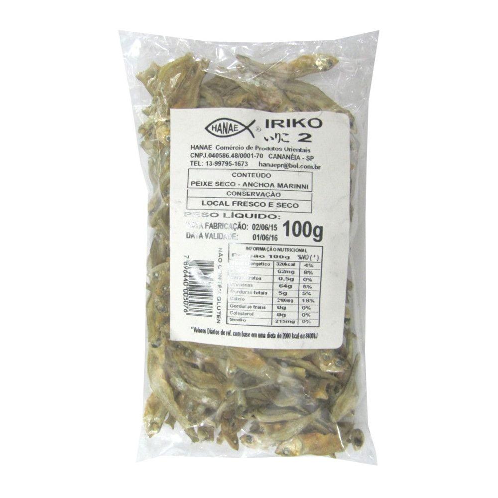 Peixe Seco Desidratado Iriko Hanae nº 2 - 100 gramas