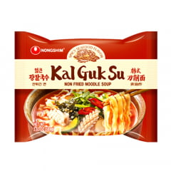 Lamen Coreano Kal Guk Su Non-Fried Seafood Frutos do Mar Picante - 103 gramas