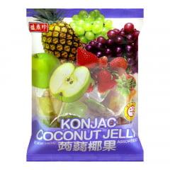 Mini Gelatinas de Frutas com Coco Sortidas Konjac Coconut Jelly – 420 gramas