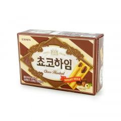 Biscoito Coreano Chocolate e Creme de Avelã Choco Heim Crown - 47 gramas