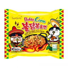 Lamen Coreano Super Picante Buldak Corn Hot Chicken Flavor Ramen Sabor Frango e Milho - 130g