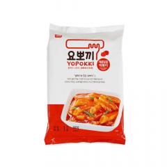 Yopokki Bolinho de Arroz Coreano Instantâneo sabor Original Sweet Spicy Topokki - 140 gramas
