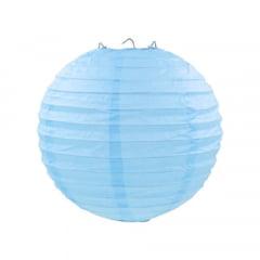 Luminária Oriental Azul Bebê Nylon - 30 cm