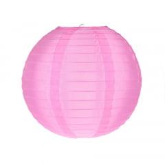 Luminária Oriental Rosa Nylon - 30cm