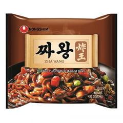 Kit Família Lamen Coreano Chawang  Zha Wang Nongshim com Tempero de Feijão Preto Tostato - 4 Pacotes