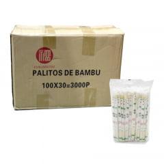 Caixa de Hashi de Bambu Fukumatsu Waribashi  - 3000 Pares