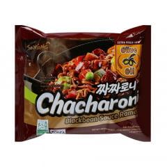Lamen Coreano Chacharoni Samyang com Tempero de Feijão Preto Tostato - 140 gramas