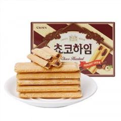 Biscoito Coreano Chocolate e Creme de Avelã Choco Heim Crown - 142 gramas