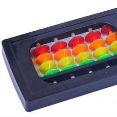 Soroban Ábaco Contador Calculadora Japonês Colorido - 13 Dígitos