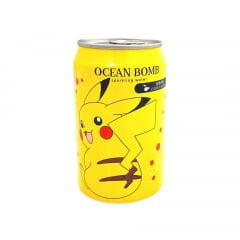 Refrigerante Pokemon Pikachu Água Gaseificada Sabor Cidra Ocean Bomb - 330mL