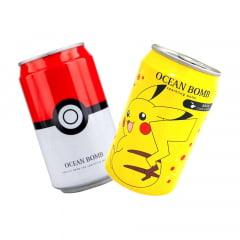 Kit Refrigerante Pokemon Pokebola e Pikachu Água Gaseificada Ocean Bomb - 330mL
