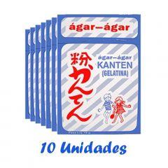 Gelatina Ágar-Ágar Japonesa de Alga MarinhaSan Marú (10gramas) - 10 unidades