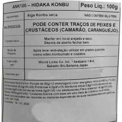 Alga Marinha Hidaka Kombu - 100 gramas
