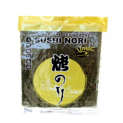 Alga Marinha Nori para Sushi e Temakis C/10 Folhas Yaki Sushi Nori Gold Brand  MAC - 28 gramas