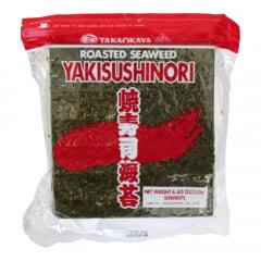Alga Marinha Yakisushinori para Sushi e Temaki 50 Folhas Kizunori Takaokaya RED - 125g