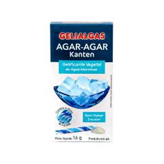 Gelatina Ágar Ágar de Algas em pó Kanten Gelialgas (16 gramas)