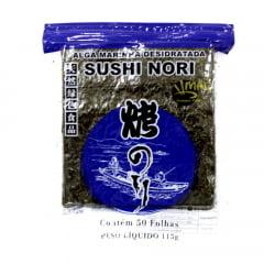 Nori Alga para Sushi e Temaki 50 Folhas Mac Blue - 115 gramas