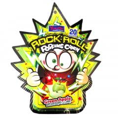 Bala Explosiva Sabor Maça Verde Rock Roll Popping Candy - 30 gramas