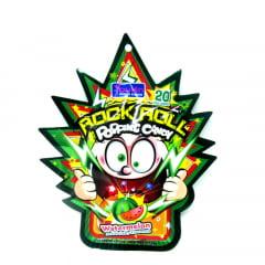 Bala Explosiva Sabor Melancia Rock Roll Popping Candy - 30 gramas