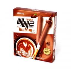 Biscoito Palito Pepero Double Dip Café Latte - 50 gramas