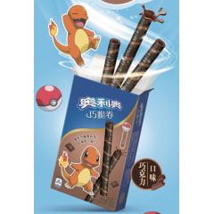 Biscoito Pokemon em formato Tubo Wafer de Chocolate Charmander - 55 gramas