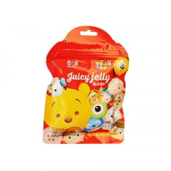 Bala Mastigável de Gelatina Sabor Frutas Juicy Jelly Tsum Tsum Disney Haitai - 56 gramas