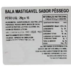 Bala Mastigável Macia Sabor Pêssego Crown - 29 gramas