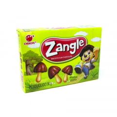 Biscoito com Cobertura de Chocolate Zangle Formato Cogumelo - 36 gramas