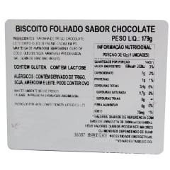 Biscoito Coreano Folhado sabor Chocolate FrenchPie Haitai - 179 gramas