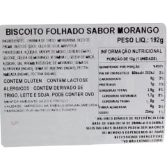 Biscoito Coreano Folhado sabor Morango FrenchPie Haitai - 192 gramas
