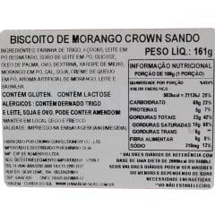 Biscoito Coreano Recheado com Morango Cream Cheese Sando Crown  - 161 gramas