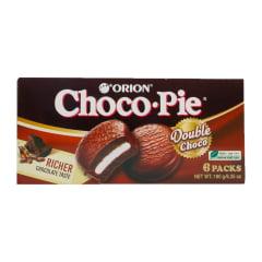 Bolinho de Chocolate Choco Pie Double Choco Orion 180 Gramas - 6 unidades