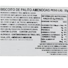 Pepero Biscoito Palito Chocolate & Amêndoa Almond - 32g