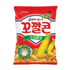 Salgadinho Coreano de Milho Crocante Popping Corn Chips Lotte - 72 gramas