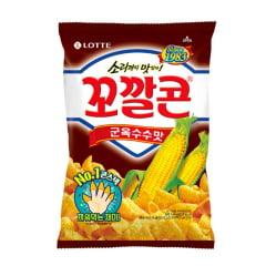 Salgadinho Coreano de Milho Torrado Popping Corn Chips Lotte - 72 gramas