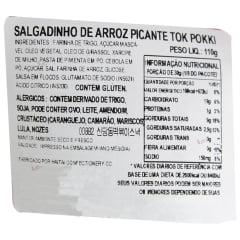Salgadinho de Massa de Arroz Picante Toppoki Haitai -110 gramas